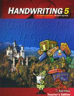 Handwriting 5 - Home Teacher's Edition
