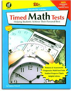 Timed Math Tests - Addition/Subtraction