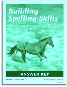 Building Spelling Skills - Book 7 - Answer Key