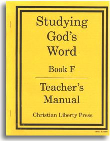 Studying God's Word - Book F - Teacher's Manual