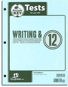 Writing and Grammar 12 Tests Answer Key (English 12)