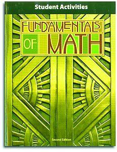 Fundamentals of Math - Student Activities Manual
