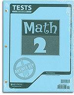 Math 2 - Tests Answer Key