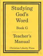 Studying God's Word - Book G - Teacher's Manual