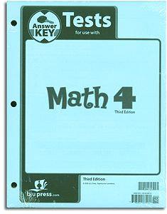 Math 4 - Tests Answer Key