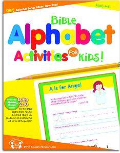 Bible Alphabet Activities for Kids