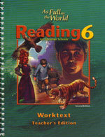 Reading 6 - Worktext Teacher's Edition