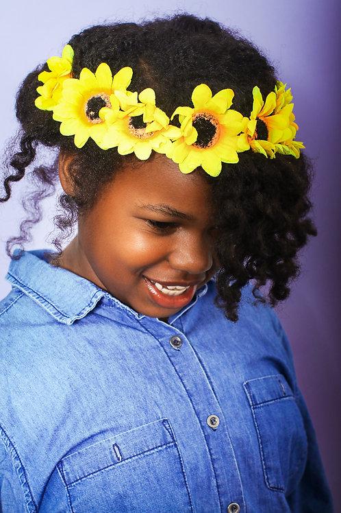 Sienna's Sunflower Hair-Crown