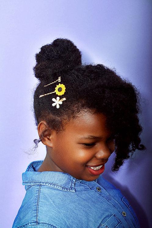 Sienna's Timeless Sunflower Hair Clips