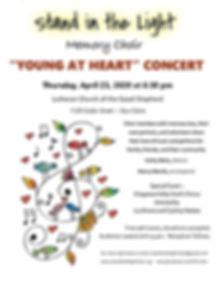 Memory Choir Spring 2020  Concert Poster