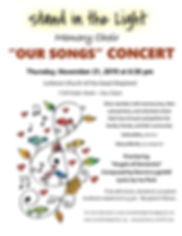 Memory Choir 2019 Fall  Concert Poster (