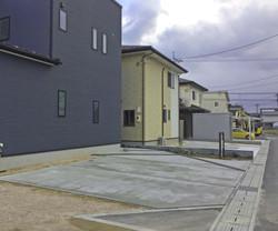 松江市 F邸 駐車場まわり