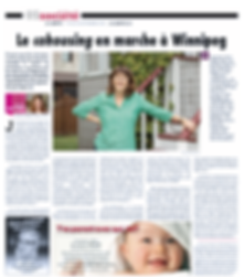 photo of newspaper page with cohousing article