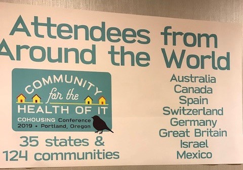 Banner at the conference welcoming people from 35 states as well as 8 other countries.