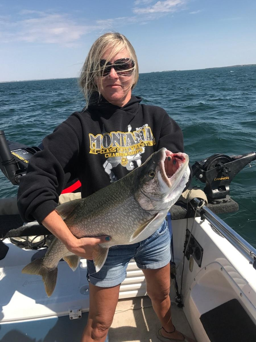 Paula Handstede 15 pound Lake Trout