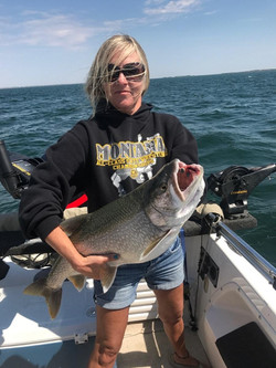 Paula Handstede 15 pound Lake Trout