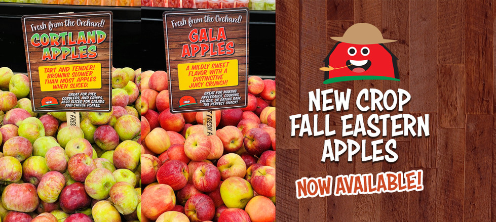 New Crop Fall Eastern Apples are here!