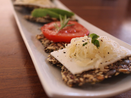 Seed Crackers and Garden Herbs