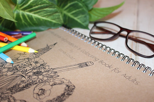 A Herbal-Medicine Information and Colouring Book for Adults