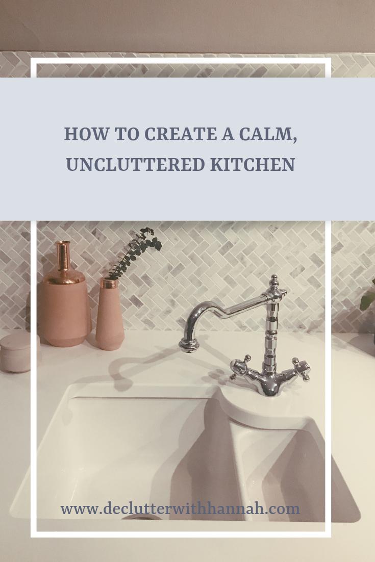 Calm pink modern kitchen