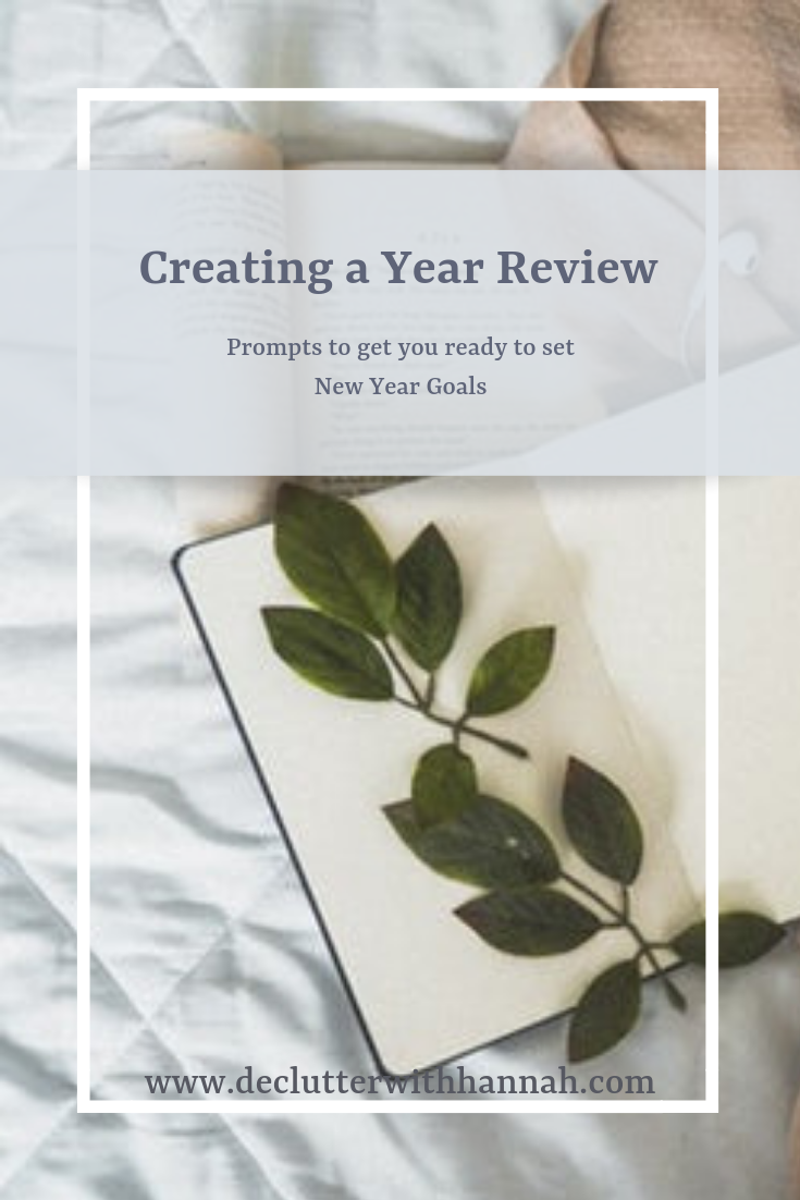 Notebook for planning, simple, minimal, year review