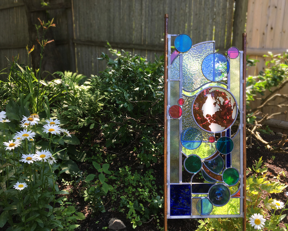 """""""Love Grows Here"""" Glass Sculpture"""