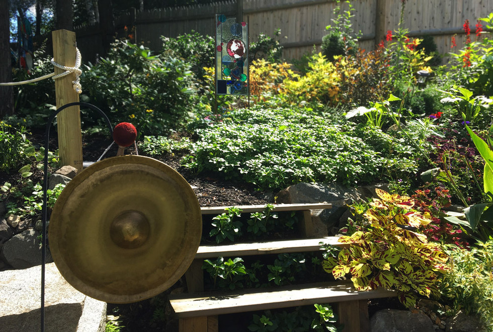 Peace Gong in the Garden