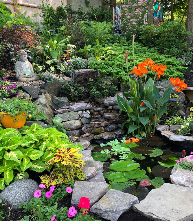 Waterfall in the Global Joy Garden