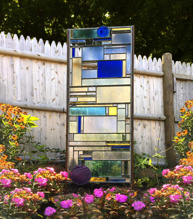 """""""Falling Into Place"""" Glass Sculpture"""