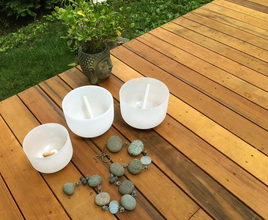 Singing Bowls in the Garden