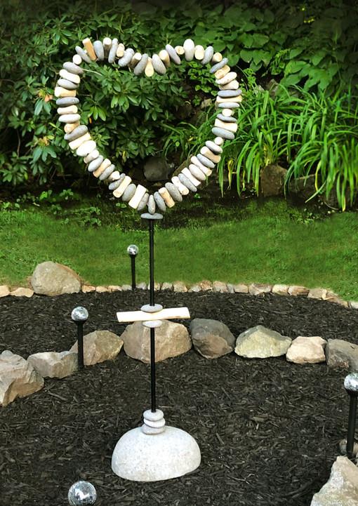 Heart Sculpture in Prayer Spiral