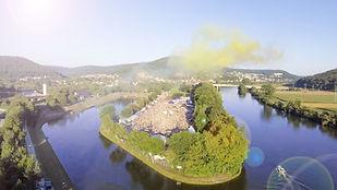 Die Tanzinsel aus der Luft