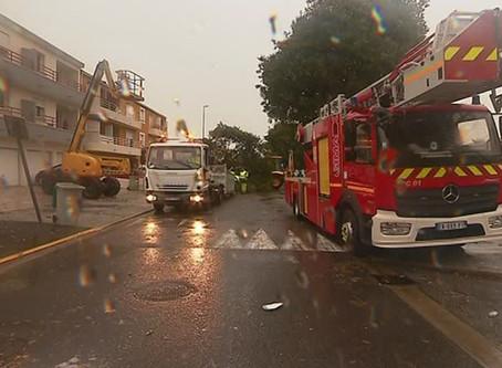 une tornade touche 10 maisons, 2 mois de pluie tombés en 3 heures