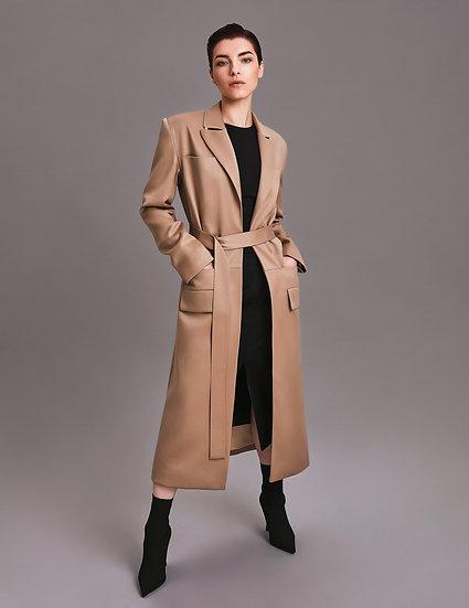 Пальто–жакет удлинённый с бусиной