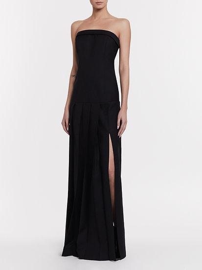 Платье-туба со складками
