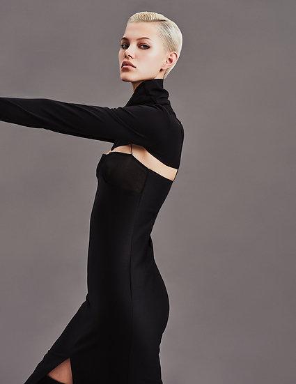 Платье комбинация с лифом из органзы