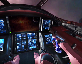 Flying a Space Fighter in VR