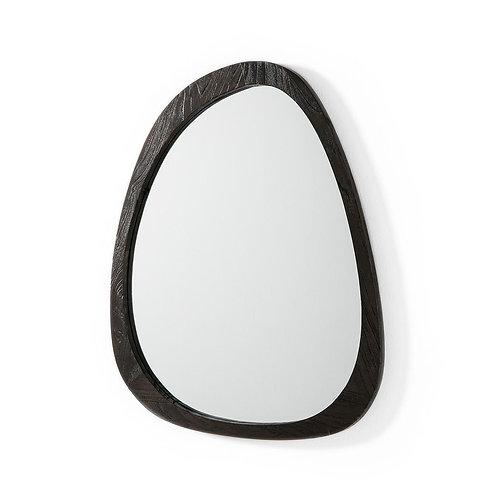 Julianne Mirror Med - Dark Brown Elm Wood