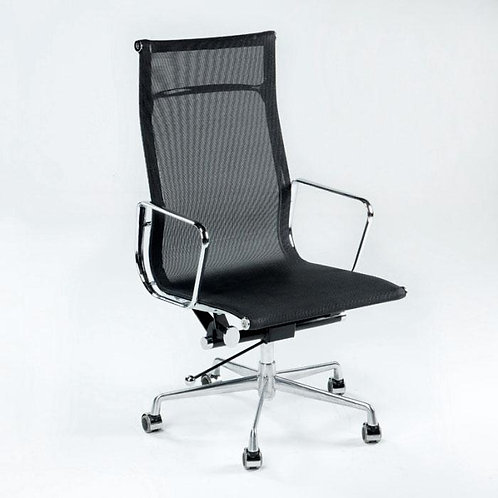 Paul Desk Chair - Black Mesh/Chrome