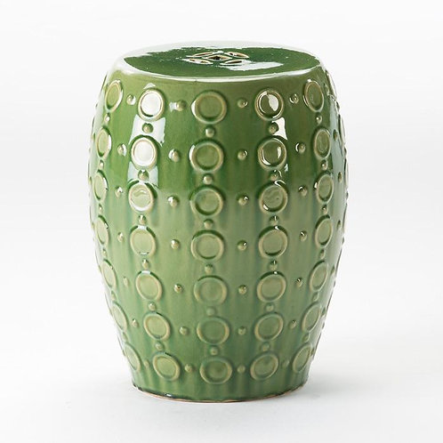 Green Ceramic Side Table/Stool