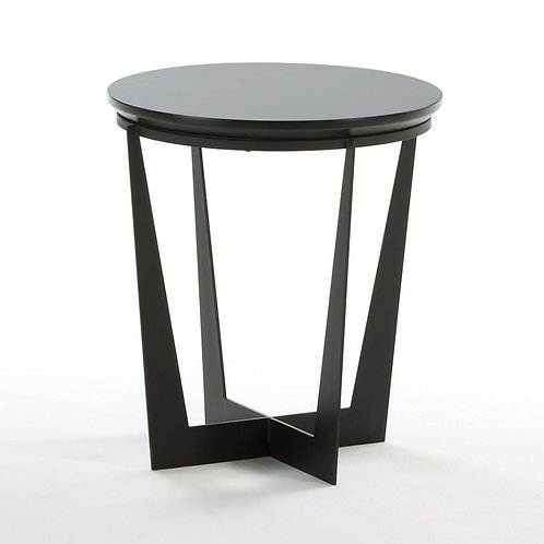 Landry Side Table - Black MDF/Metal