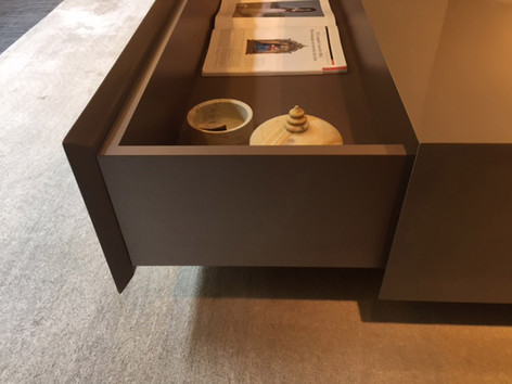 Hidden storage for custom coffee table