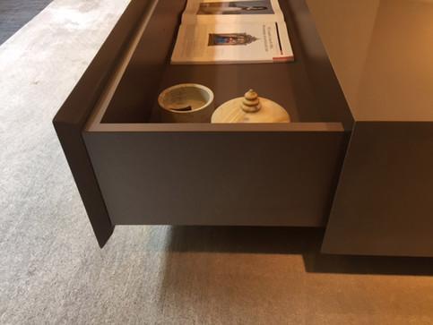 Hidden storage for custom coffee table