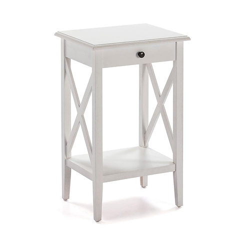 Stacy Nightstand - White Wood
