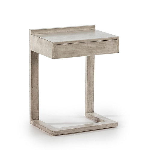 Perla Nightstand - Grey Veiled Wood