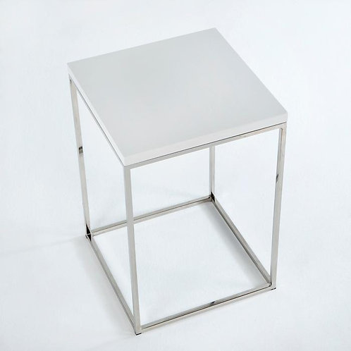 Lana Side Table - White MDF/Steel