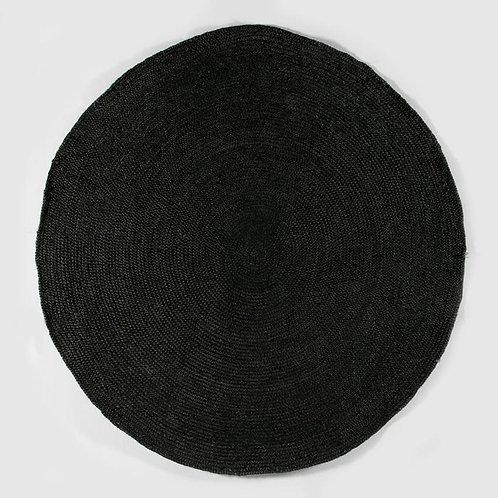 Savannah Rug 200X1X200 - Black Jute