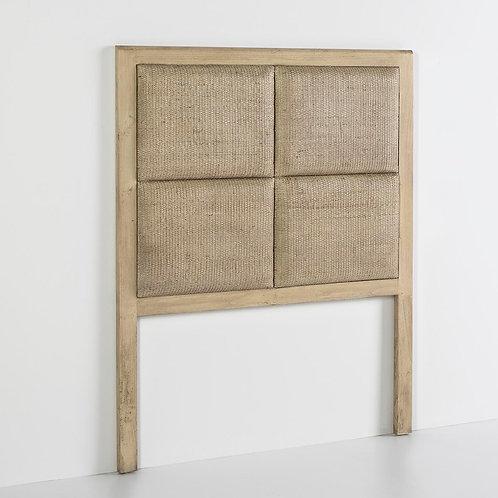 Selena Headboard/Sgl - White Veiled Rattan/Wood