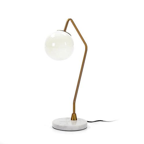 Lourdes Table Lamp - White Marble/Golden Metal/Glass