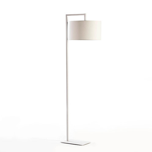 Renee Floor Lamp - White Metal